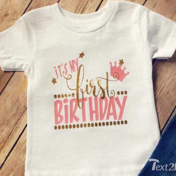a84a452b Mabel and Lola Shirts & Tops | Girls 1st Birthday Pink And Gold ...